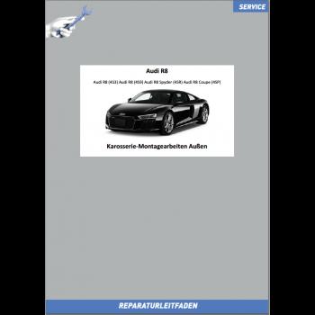 Audi R8 (15>) Reparaturleitfaden Karosserie Montagearbeiten Außen