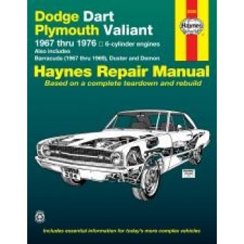 Dodge Dart and Plymouth Valiant (67 - 76) - Repair Manual Haynes