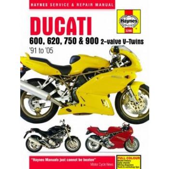Ducati 600, 620, 750 and 900 2-valve V-Twins (91 - 05) - Repair Manual Haynes