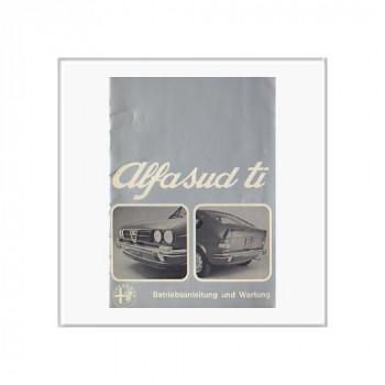 Alfasud TI (77>) - Betriebsanleitung