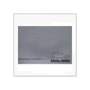 Alfetta 2000 L (79>) - Betriebsanleitung