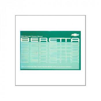 Chevrolet Beretta (88>) - Owner manual