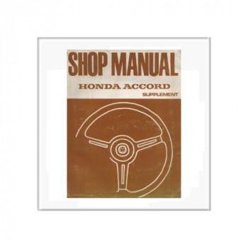 Honda Accord 1976 - Nachtrag Werkstatthandbuch