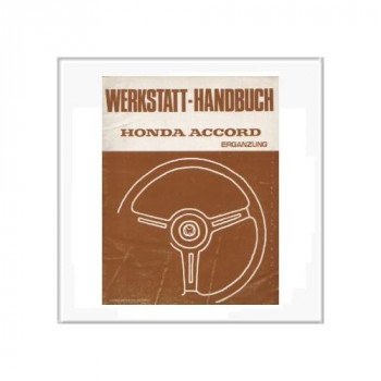 Honda Accord 1979 - Ergänzung Werkstatthandbuch