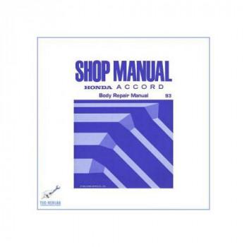 Honda Accord 2,0i / 2,0i S / 2,3i SR  CC7 (>93)  - Body Repair Shop Manual