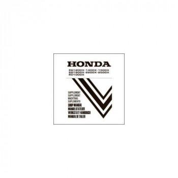Honda EG 1200X/1400X/1500X/1800X/2200X/2500X/ED1000X (> 95) - Werkstatthandbuch - Nachtrag