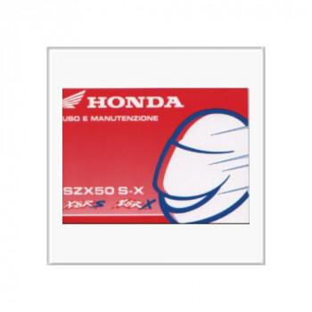 Honda SZX 50 S-X - Betriebsanleitung