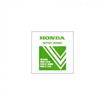 Honda WH 15X / WH 20X (85>) - Werkstatthandbuch und Nachtrag extra (92)