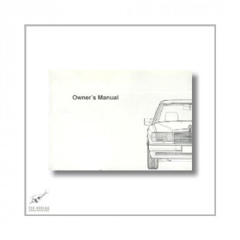 Mercedes-Benz 300 D 2,5 Turbo (84>) Owner`s Manual 1990