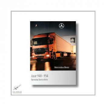 Mercedes-Benz Axor 940-954 (01>) Operating Instructions 2009