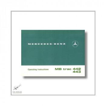 Mercedes-Benz MB trac 442 443 1100 1300/1500 (76>) Operating Instructions 1982