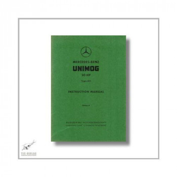 Mercedes-Benz Type W411 Unimog Tractor 30 HP (91>) Instruction Manual