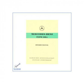 Mercedes Benz W 120, 180a (57-59) - Owners Manual