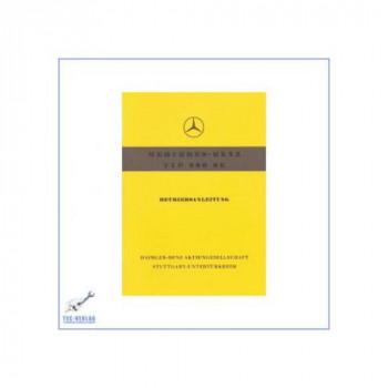 Mercedes Benz W 128, 220 SE (58-60) - Betriebsanleitung