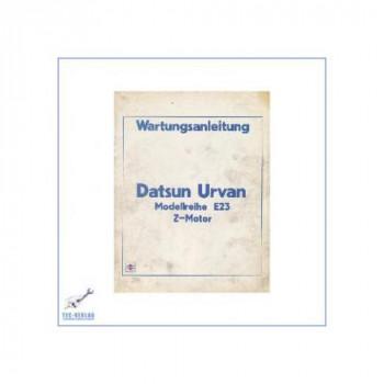 Nissan Datsun Urvan E23 Z-Motor - Wartungsanleitung