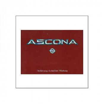 Opel Ascona 1984 - Betriebsanleitung