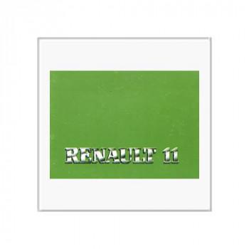 Renault 11 - Betriebsanleitung