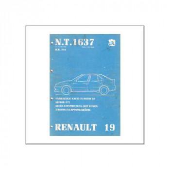 Renault 19 Mono-Einspritzung - Werkstatthandbuch