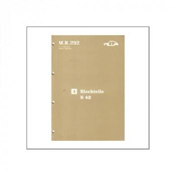 Renault 21 - Blechteile B 48 - Werkstatthandbuch