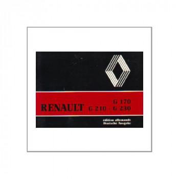 Renault G170/G210-G230 - Fahrbetrieb und Wartung