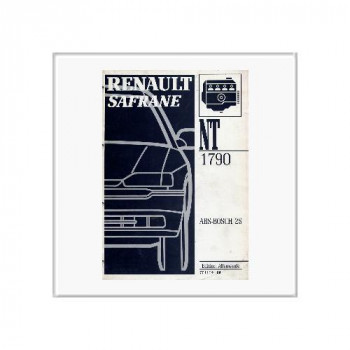 Renault Safrane ABS Bosch 2S - Werkstatthandbuch Nachtrag 1992