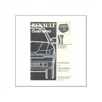 Renault Safrane - WHB Besonderheiten der Einspritzanlagen