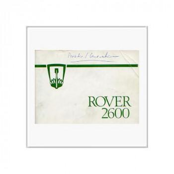 Rover 2600 (78>) - Betriebsanleitung