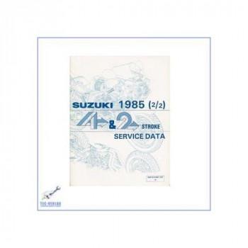 Suzuki 80 ccm bis 750 ccm 2- und 4-Takt Motorräder (85) - Werkstatthandbuch Servicedaten