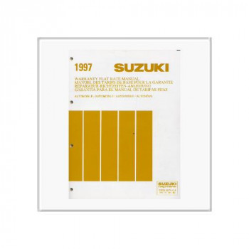 Suzuki Automobile - Richtzeiten Katalog 1997