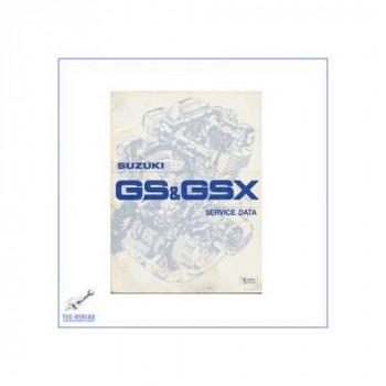 Suzuki Motorräder GS / GSX 400ccm bis 1100ccm (80) - Werkstatthandbuch Servicedaten