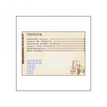 Toyota 3FG33-35-40 - Betriebshandbuch