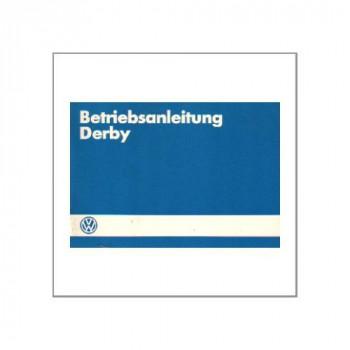 VW Derby 1984 - Betriebsanleitung