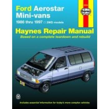 Ford Aerostar Mini-vans (86 - 97) - Repair Manual Haynes