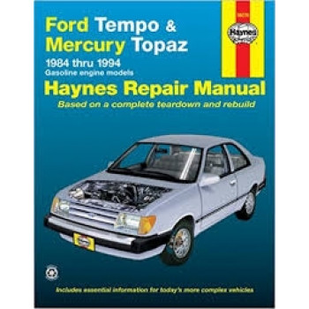 Ford Tempo and Mercury Topaz (84 - 94) - Repair Manual Haynes