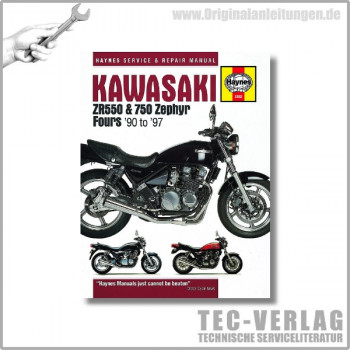 Kawasaki ZR550, ZR750 Zephyr (90-97) - Repair Manual Haynes