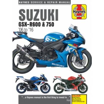 Suzuki GSX-R600, GSX-R750 (06-16) - Repair Manual Haynes