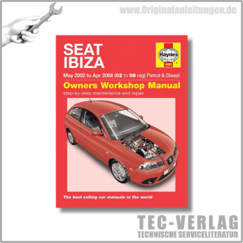 Seat Ibiza (02-08) - Repair Manual Haynes