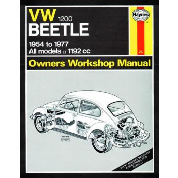 Volkswagen Beetle 1200 (1954 - 1977) Repair Manual Haynes