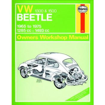 Volkswagen Beetle 1300 / 1500 (1965 - 1975) Repair Manual Haynes