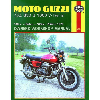 Moto-Guzzi 750/850/1000 V-Twins (74-78) Repair Manual Haynes