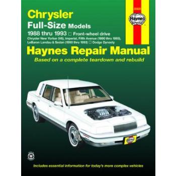 Chrysler / Dodge Full-Size FWD Petrol (88-93) Repair Manual Haynes