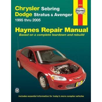 Chrysler Sebring & Dodge Stratus, Avenger Petrol (95-06) Repair Manual Haynes