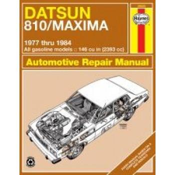 Datsun 810/Maxima (77 - 84) - Repair Manual Haynes