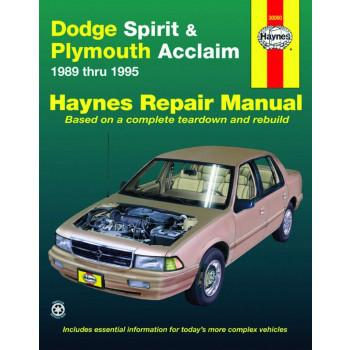 Dodge Spirit & Plymouth Acclaim (89 - 95) Repair Manual Haynes