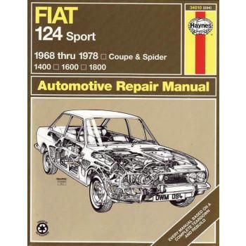 Fiat 124 Sport Coupe & Spider (68 - 78) Repair Manual Haynes