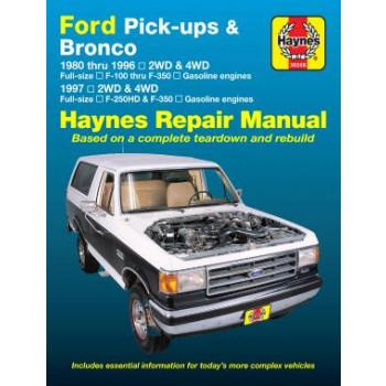 Ford Pick-ups & Bronco Petrol (80-96) Repair Manual Haynes
