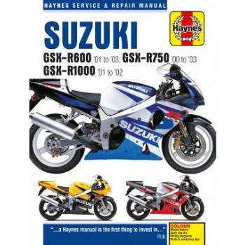 Suzuki GSX-R600, GSX-R750 & GSX-R1000 (01-03) Repair Manual Haynes