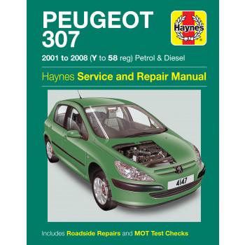 Peugeot 307 Petrol & Diesel (01-08) Repair Manual Haynes