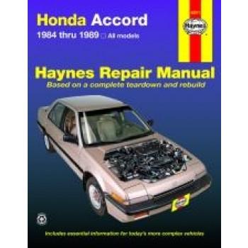 Honda Accord (84 - 89) - Repair Manual Haynes