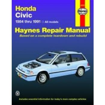 Honda Civic (84 - 91) - Repair Manual Haynes
